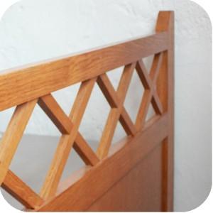 e237 lit ancien bois ann es 50 e atelier du petit parc. Black Bedroom Furniture Sets. Home Design Ideas