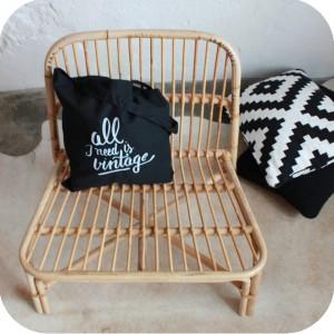 E273 fauteuil rotin ikea vintage e atelier du petit parc - Fauteuil rotin ikea ...