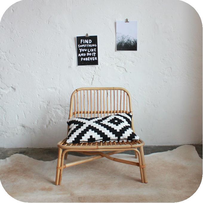 fauteuil loveuse rotin ann es 70 atelier du petit parc. Black Bedroom Furniture Sets. Home Design Ideas