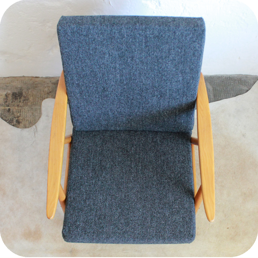 e389 fauteuil scandinave vintage thonet d atelier du petit parc. Black Bedroom Furniture Sets. Home Design Ideas