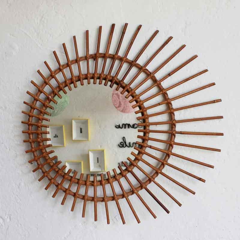 Animal fil de fer emilie bredel atelier du petit parc for Miroir osier soleil