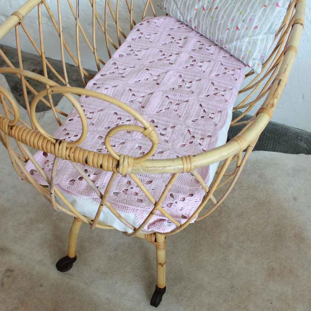 e547 berceau bebe rotin vintage nantes e atelier du petit parc. Black Bedroom Furniture Sets. Home Design Ideas