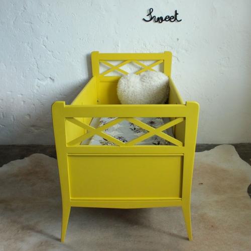 lit b b bois vintage c216 atelier du petit parc. Black Bedroom Furniture Sets. Home Design Ideas