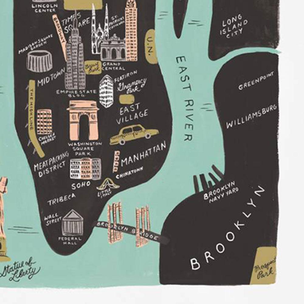 affiche riffle paper co new york anna bond atelier du petit parc. Black Bedroom Furniture Sets. Home Design Ideas