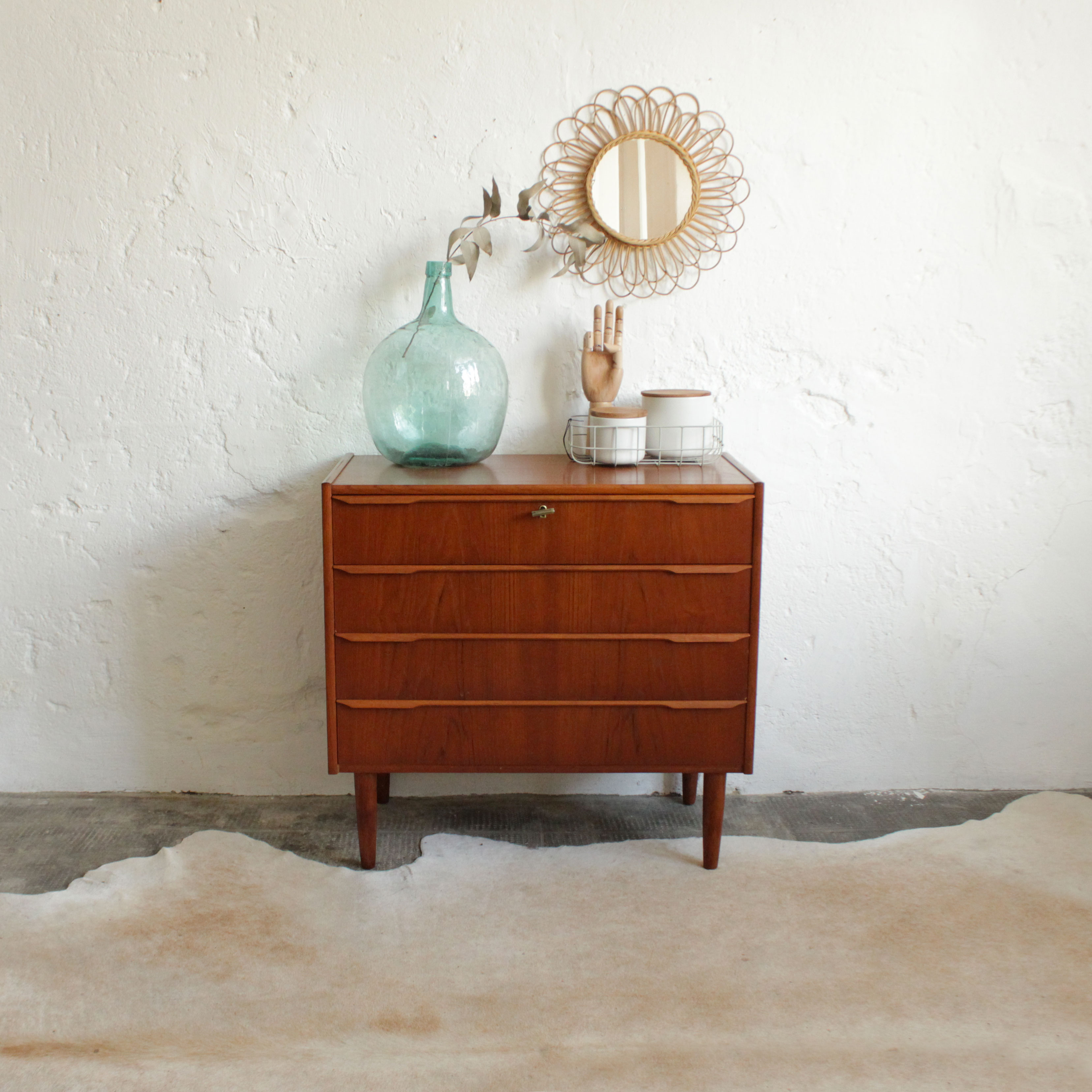 Commode-scandinave-teck-vintage-danoise-F279-a