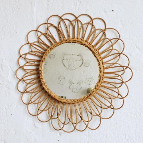Miroir-rotin-fleur-vintage-F271_a