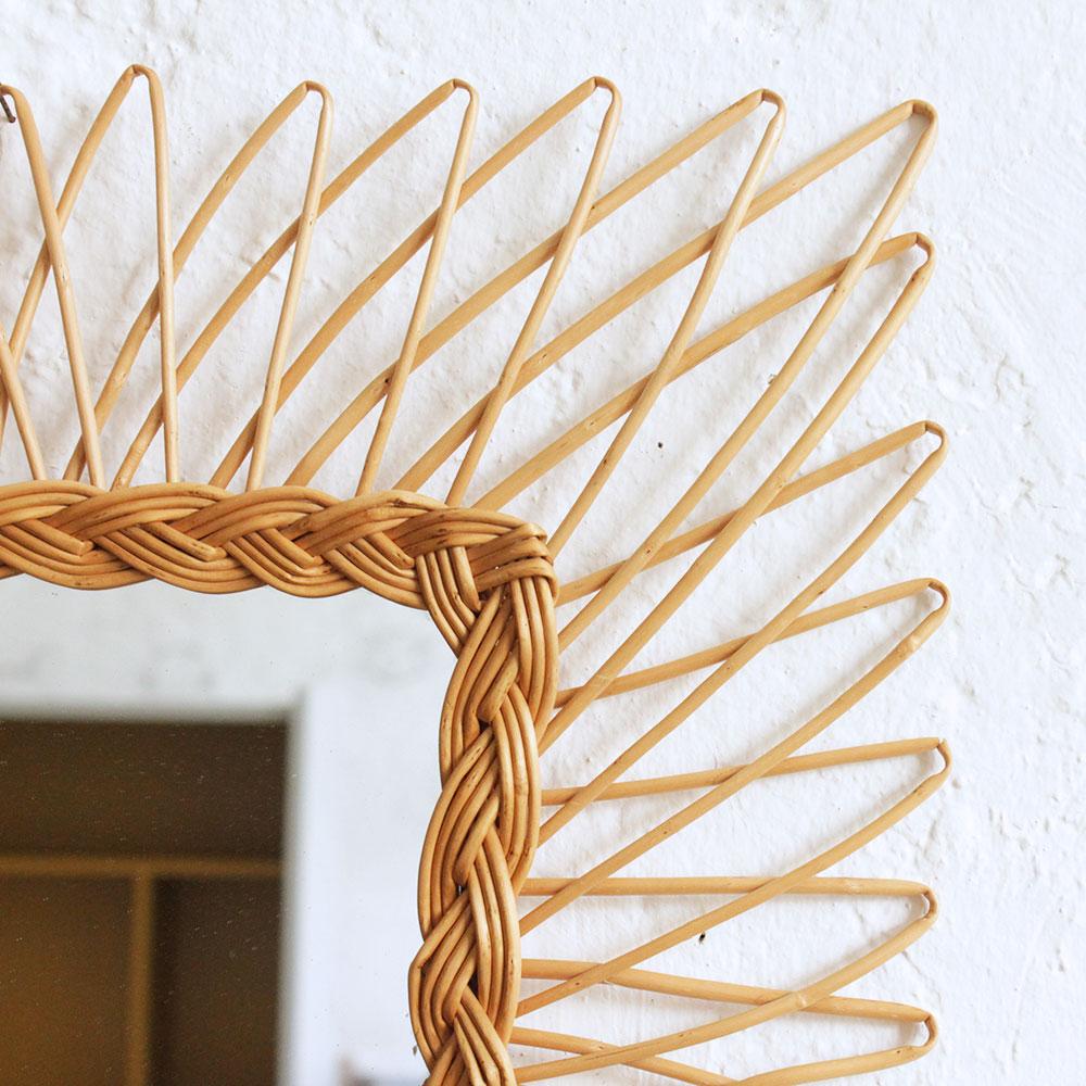 Miroir osier vintage f343 c atelier du petit parc for Miroir osier
