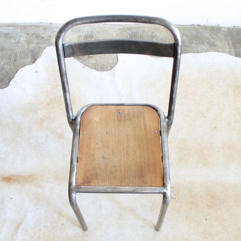 Chaise vintage style tolix f382 atelier du petit parc - Chaise tolix vintage ...
