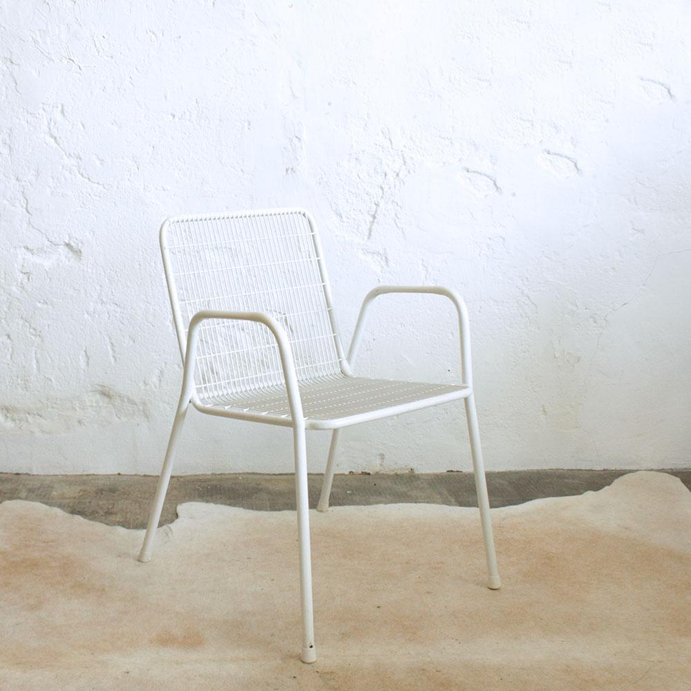 chaise metal italienne vintage f442 b atelier du petit parc. Black Bedroom Furniture Sets. Home Design Ideas