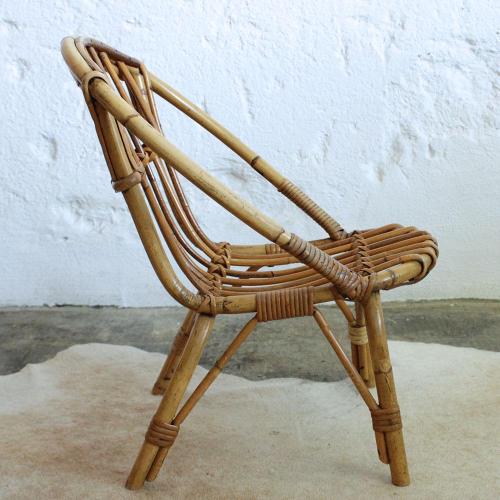 fauteuil rotin enfant vintage atelier du petit parc. Black Bedroom Furniture Sets. Home Design Ideas