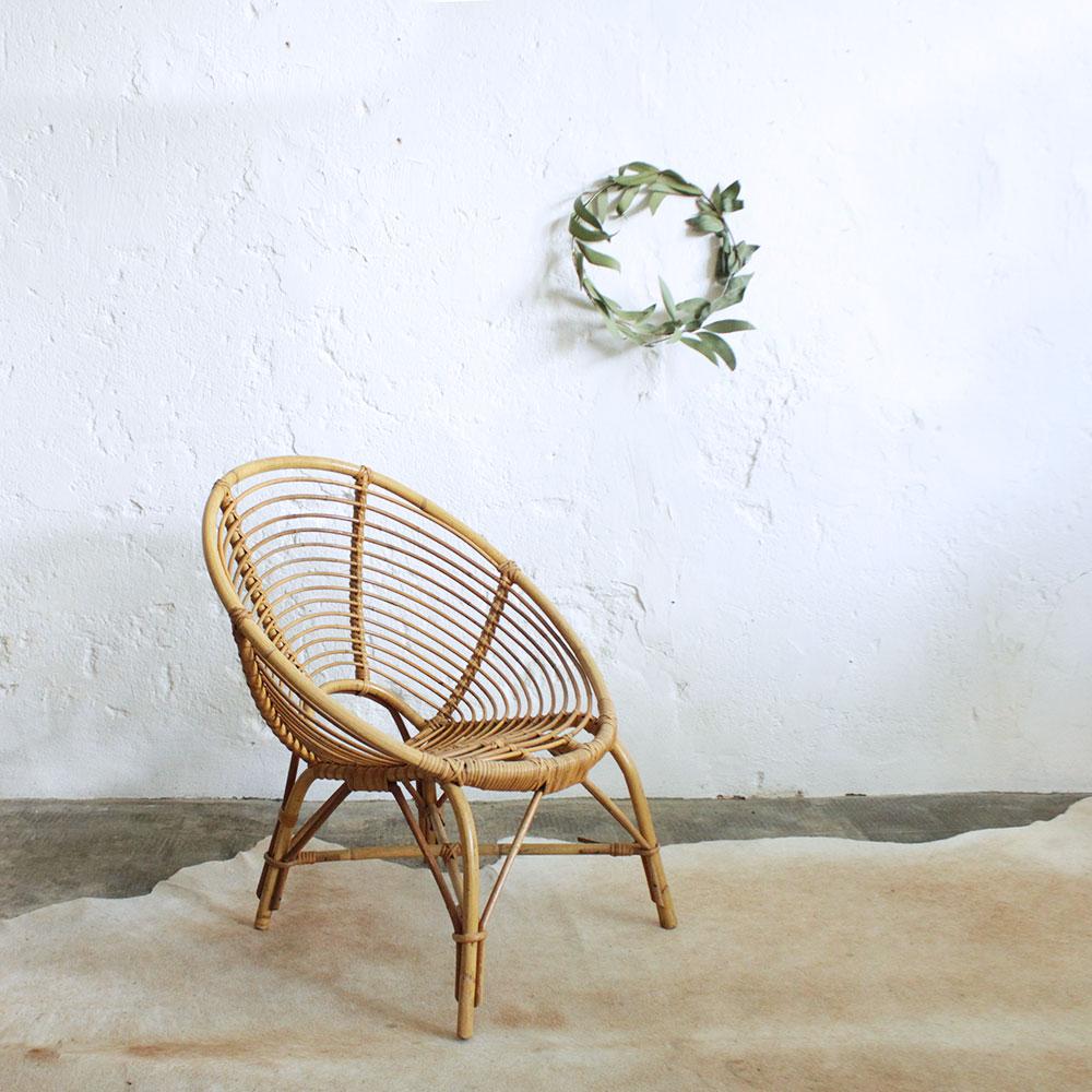 fauteuil rotin vintage spirale f372 atelier du petit parc. Black Bedroom Furniture Sets. Home Design Ideas
