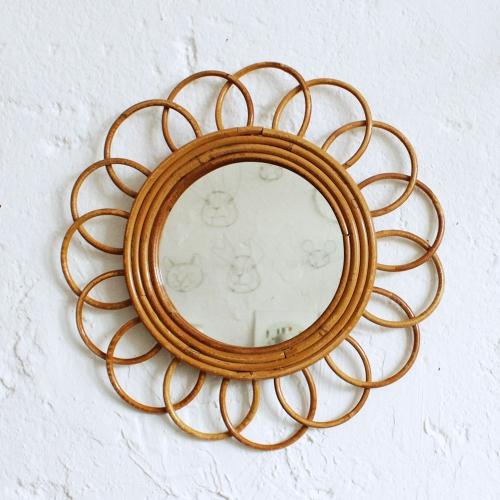 Miroir-rotin-vintage-fleur-F421_a