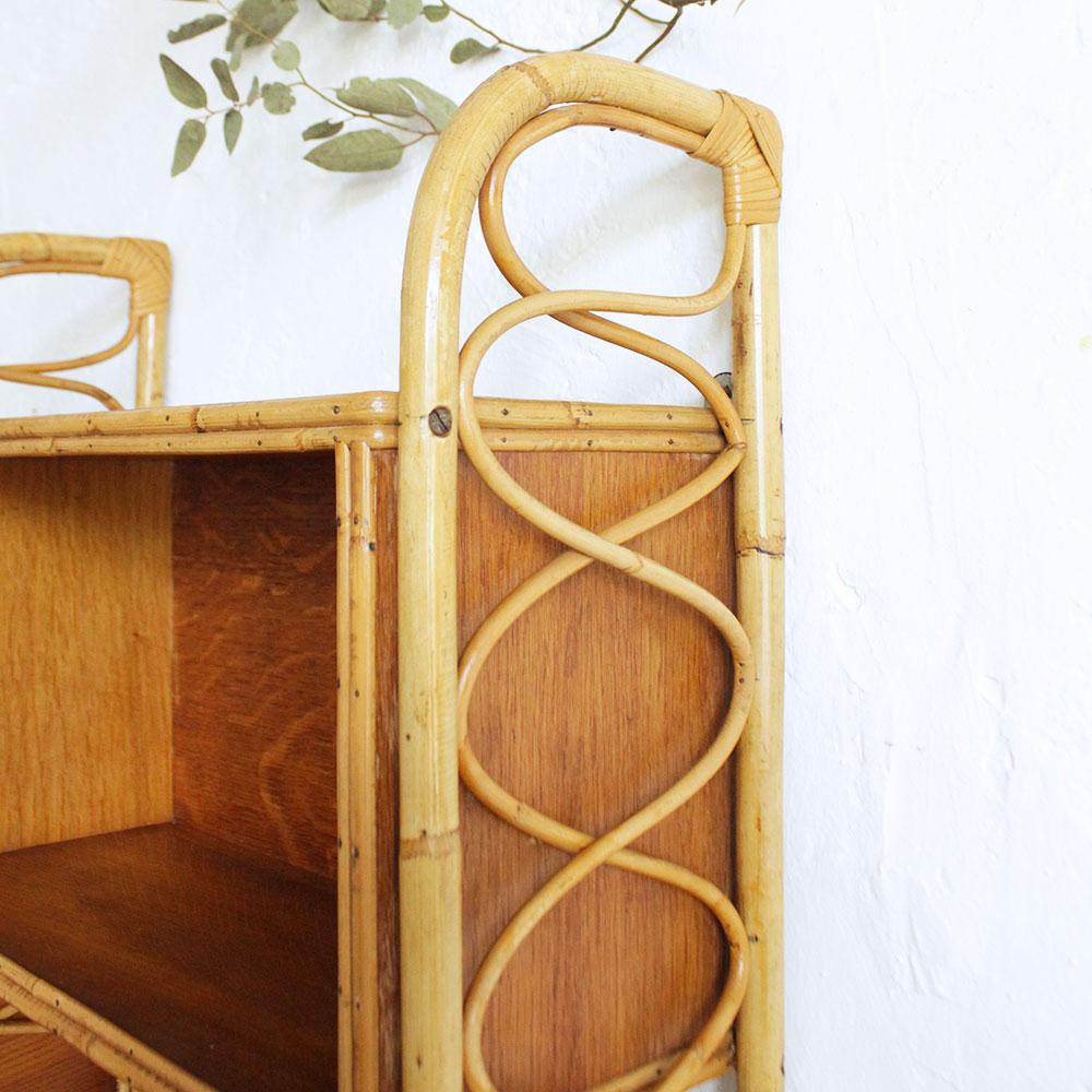 etagere rotin vintage atelier du petit parc. Black Bedroom Furniture Sets. Home Design Ideas