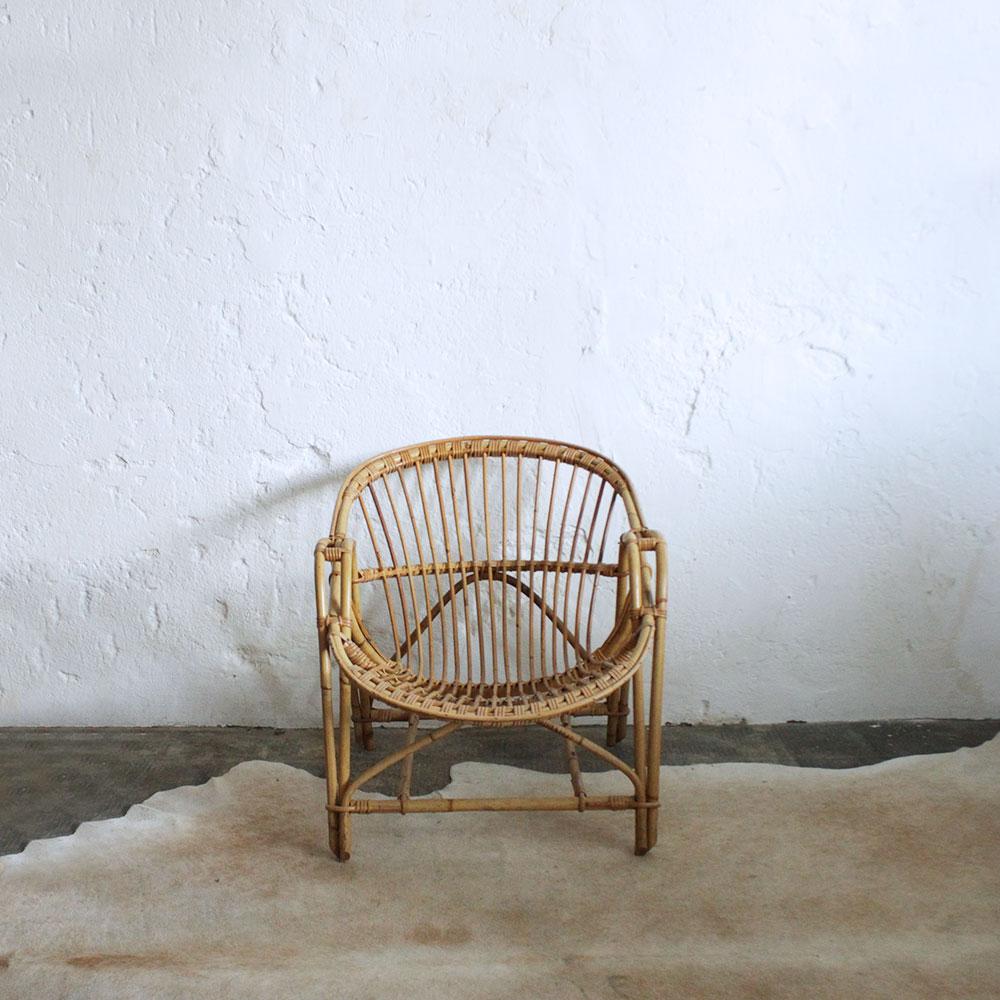 fauteuil rotin vintage confortable atelier du petit parc. Black Bedroom Furniture Sets. Home Design Ideas