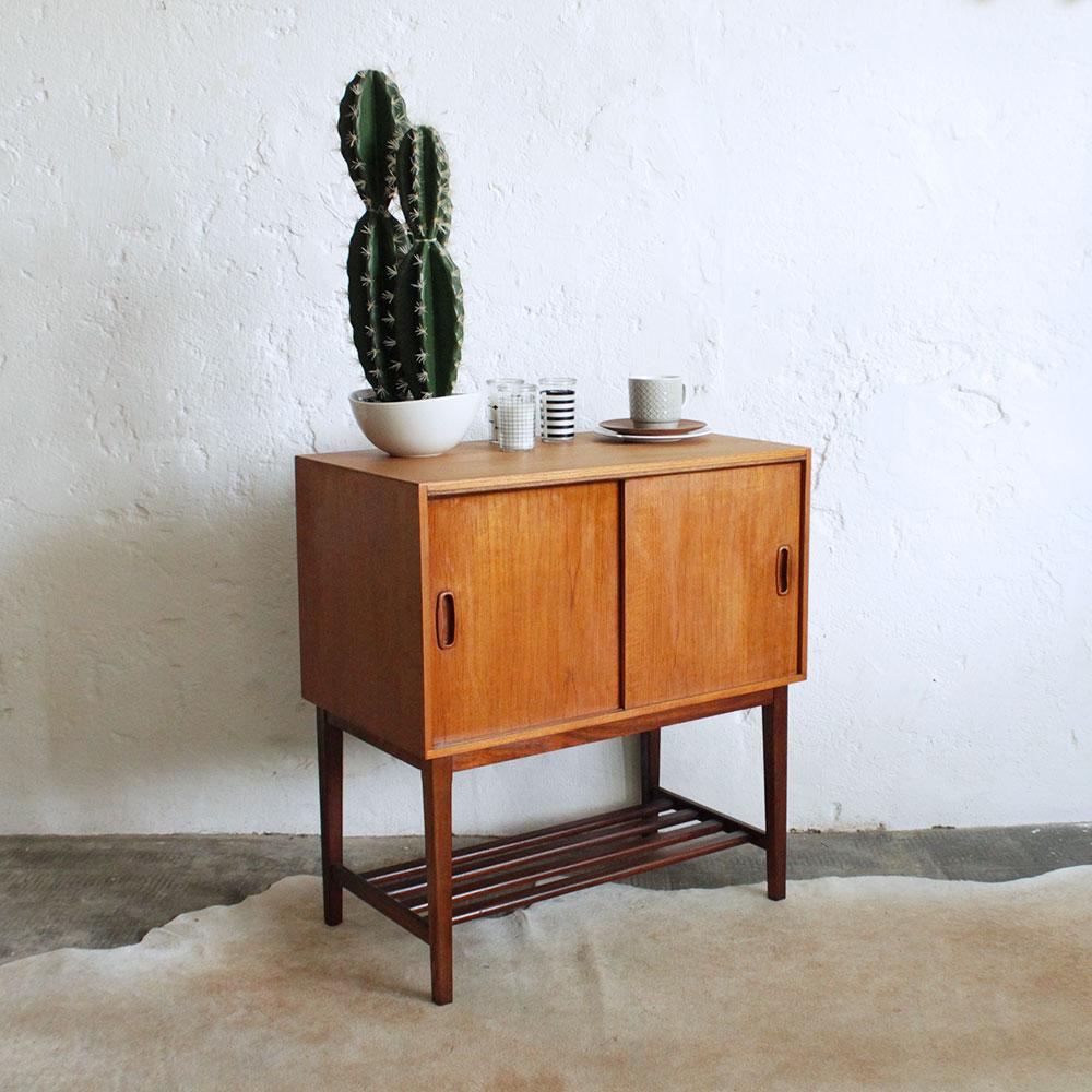 Retro Vintage Teak Record Cabinet Atelier Du Petit Parc