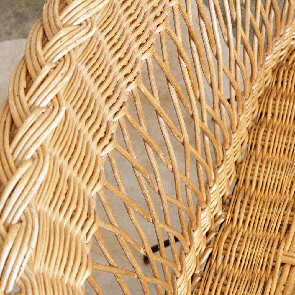 mobilier banquette osier vintage atelier du petit parc. Black Bedroom Furniture Sets. Home Design Ideas