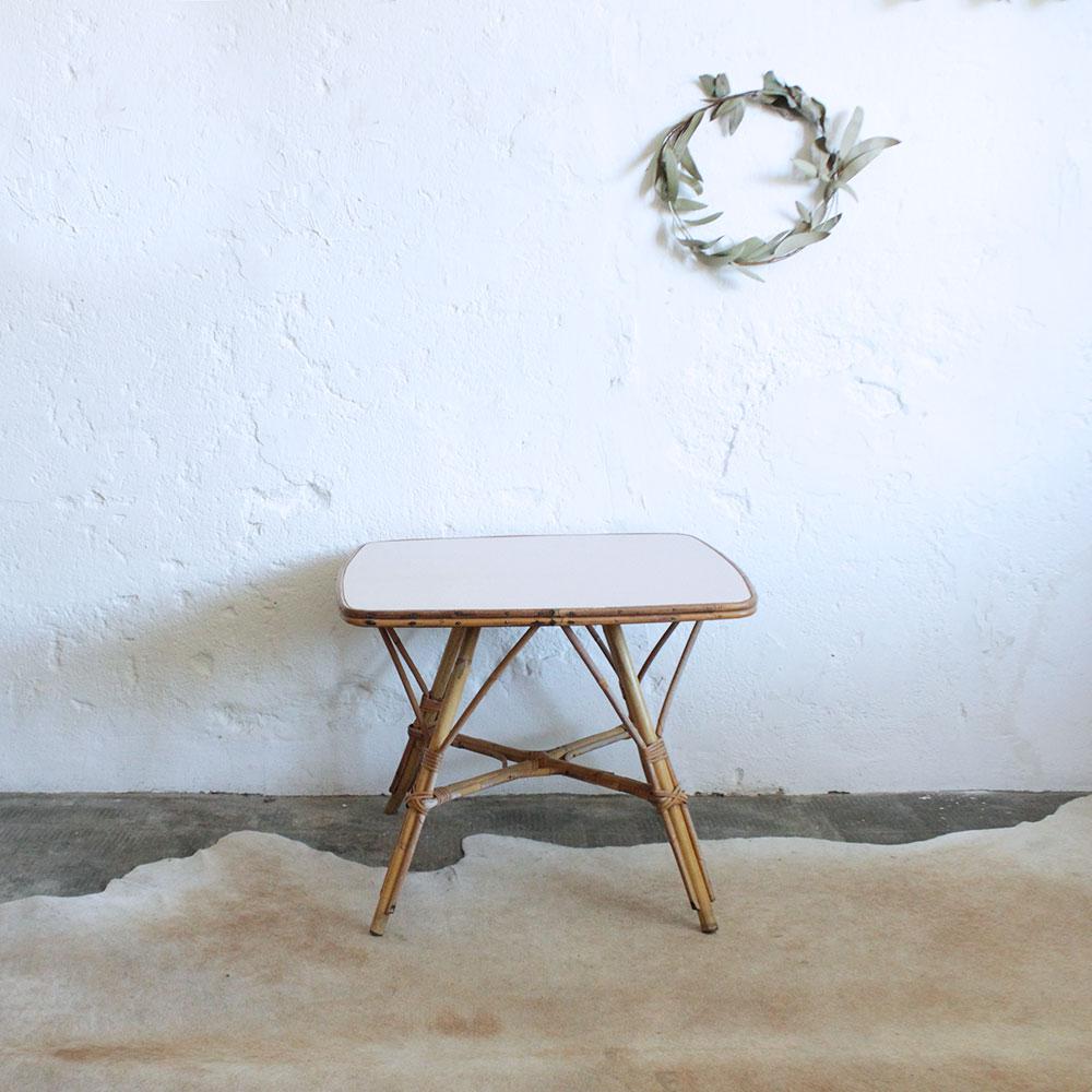 Table Basse Rotin Vintage M Tal Atelier Du Petit Parc