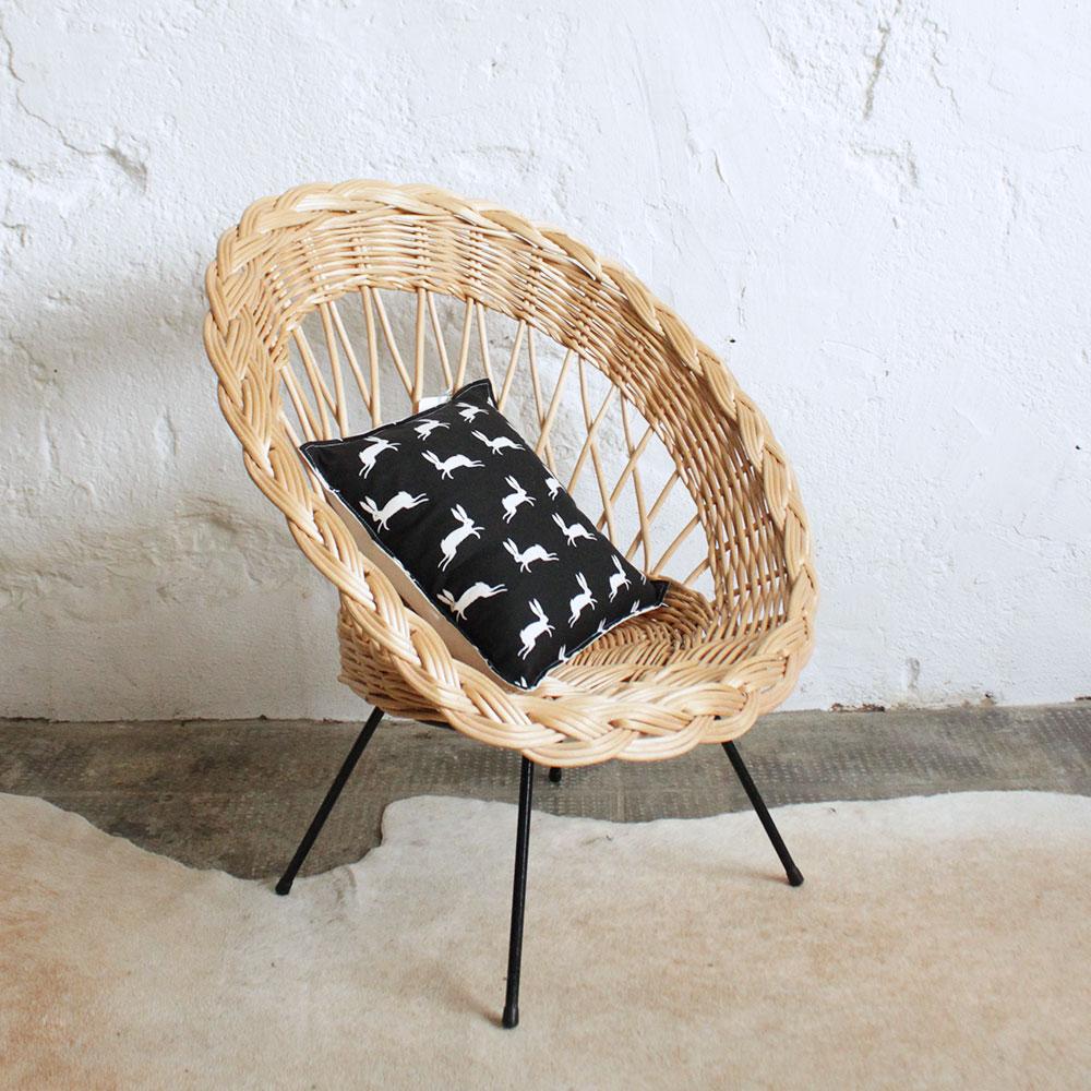 fauteuil osier vintage pour enfant atelier du petit parc. Black Bedroom Furniture Sets. Home Design Ideas