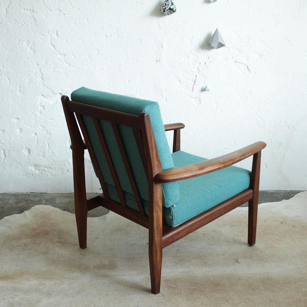 fauteuil vintage teck scandinave atelier du petit parc. Black Bedroom Furniture Sets. Home Design Ideas