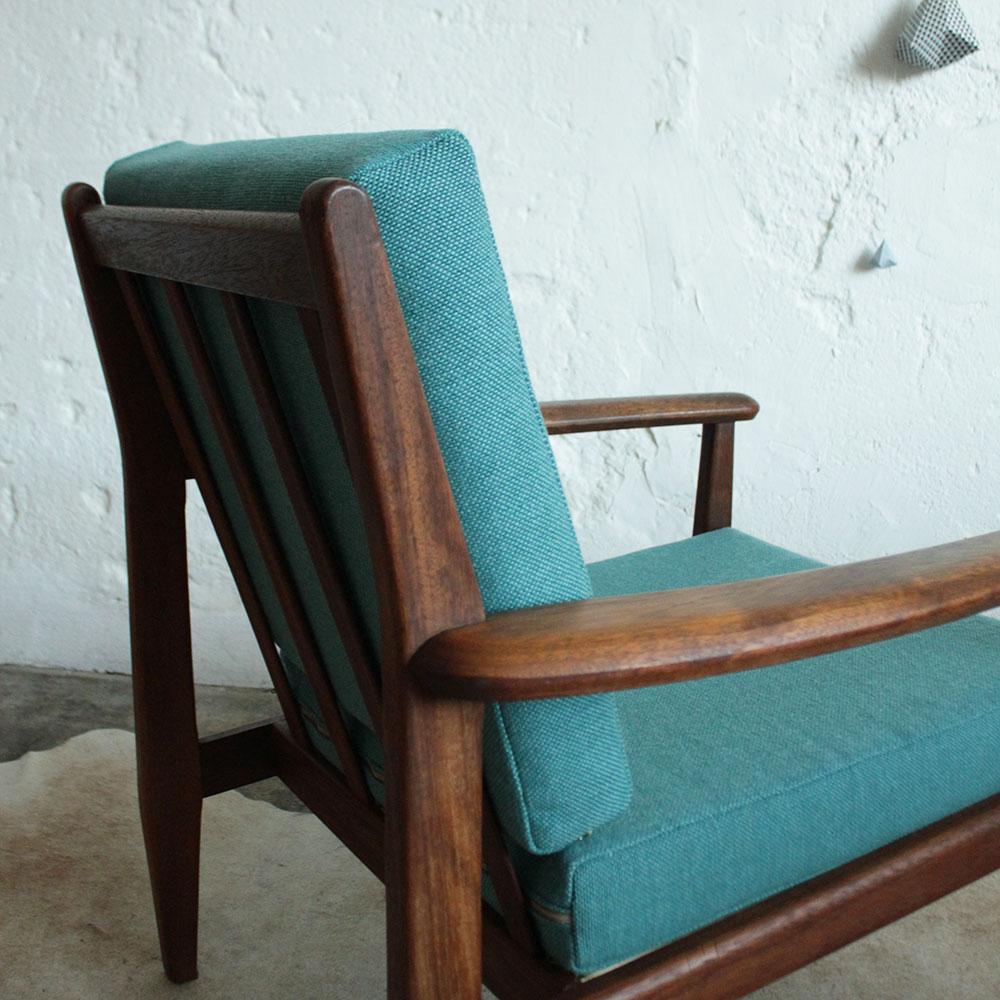 Vintage fauteuil teck scandinave f708 g atelier du petit parc - Petit fauteuil scandinave ...