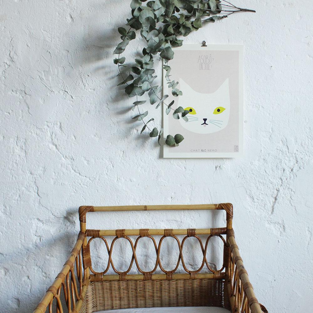 berceau bebe vintage rotin g222 f atelier du petit parc. Black Bedroom Furniture Sets. Home Design Ideas