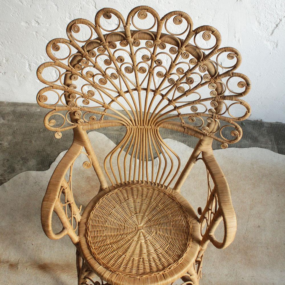fauteuil rotin queue de paon atelier du petit parc. Black Bedroom Furniture Sets. Home Design Ideas
