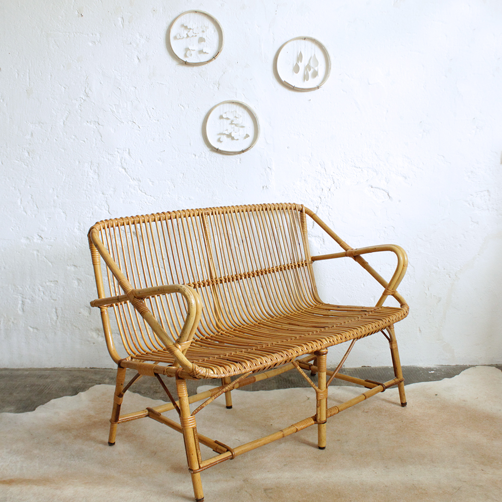 banquette en rotin 1716 banquette en rotin banquette en rotin vintage banquette banquette en. Black Bedroom Furniture Sets. Home Design Ideas