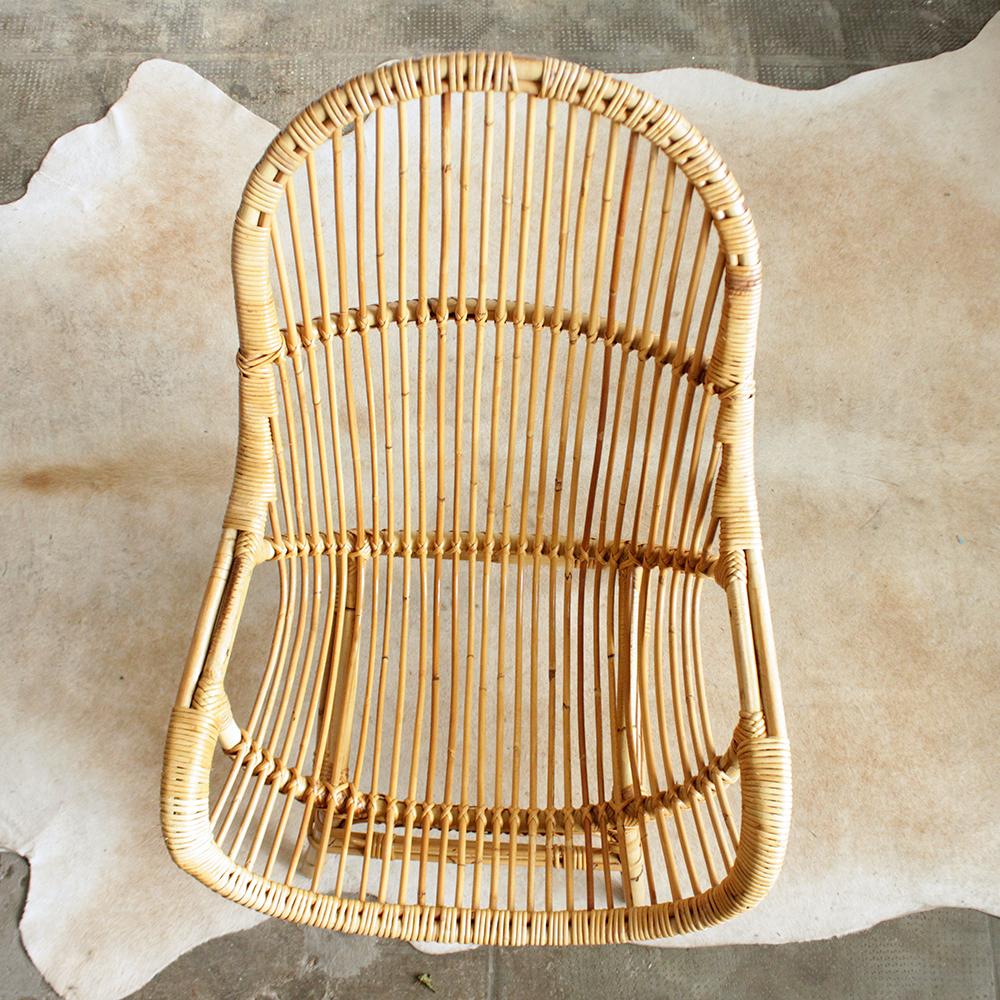 fauteuil rotin loveuse vintage atelier du petit parc. Black Bedroom Furniture Sets. Home Design Ideas