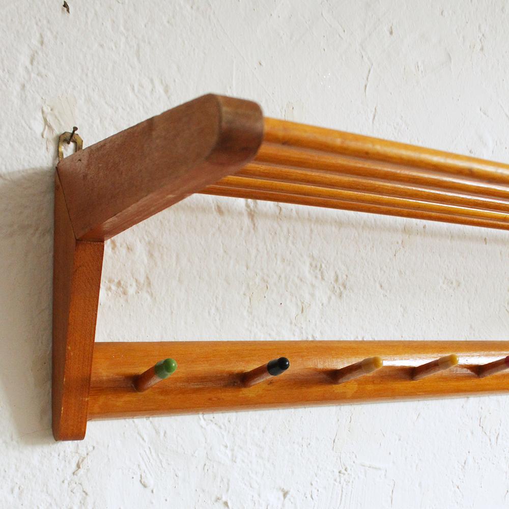 porte manteaux vintage en h tre atelier du petit parc. Black Bedroom Furniture Sets. Home Design Ideas