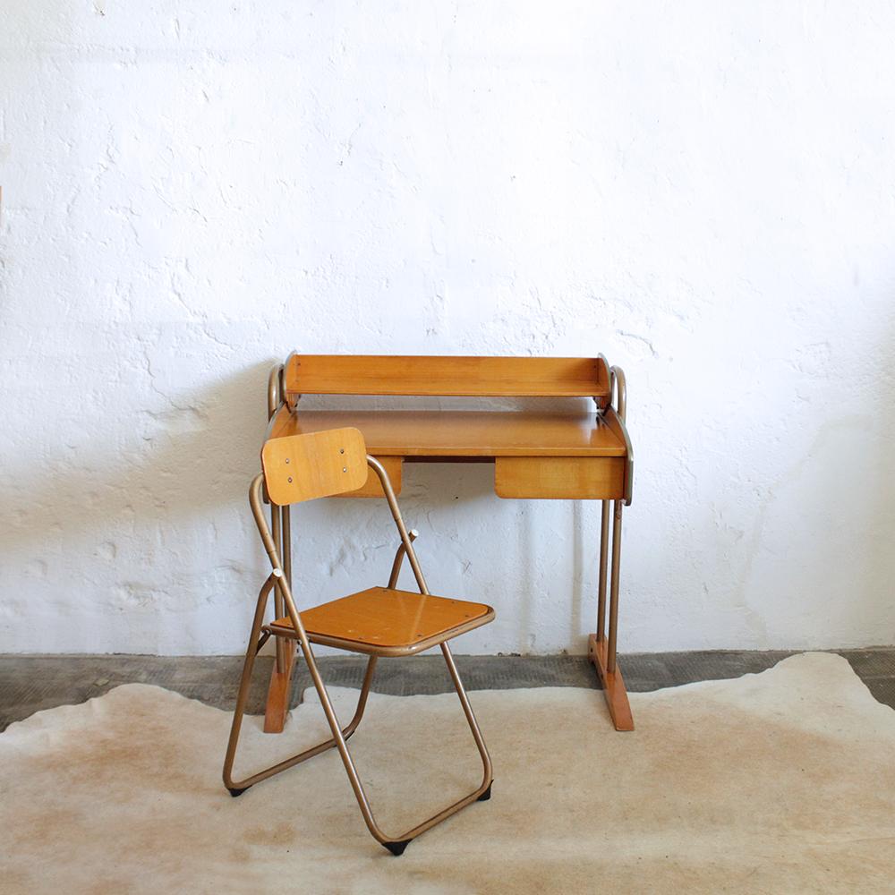 bureau vintage modulable vintage g501 c atelier du petit parc. Black Bedroom Furniture Sets. Home Design Ideas