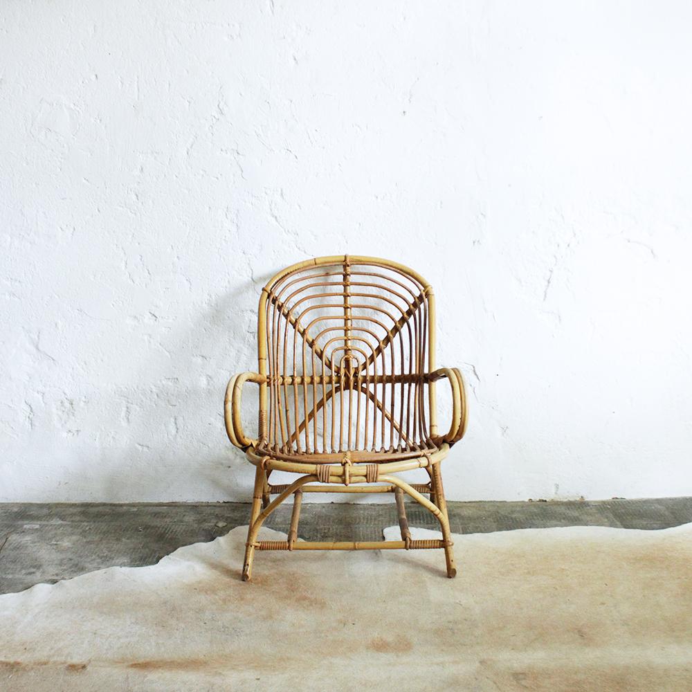 fauteuil rotin vintage spirale atelier du petit parc. Black Bedroom Furniture Sets. Home Design Ideas