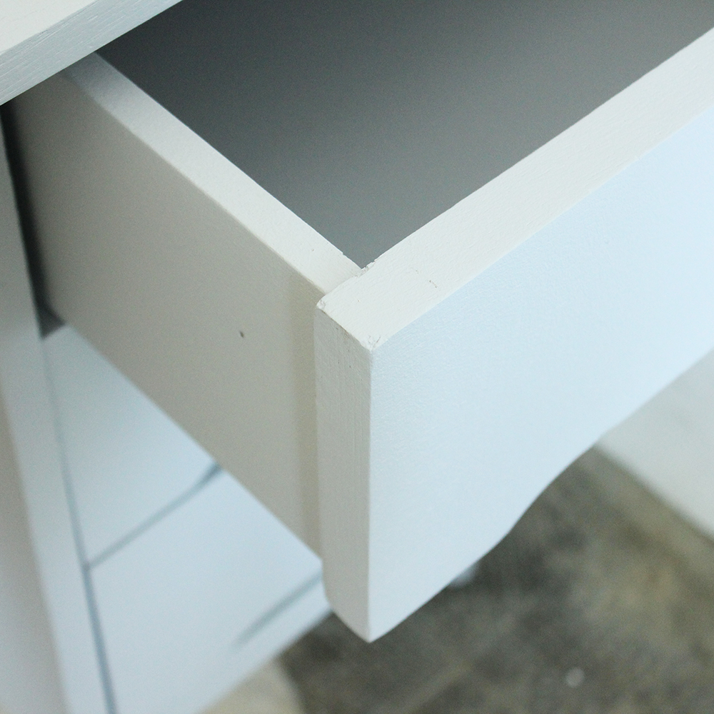 Bureau vintage bois gris b400 c atelier du petit parc - Bureau bois gris ...
