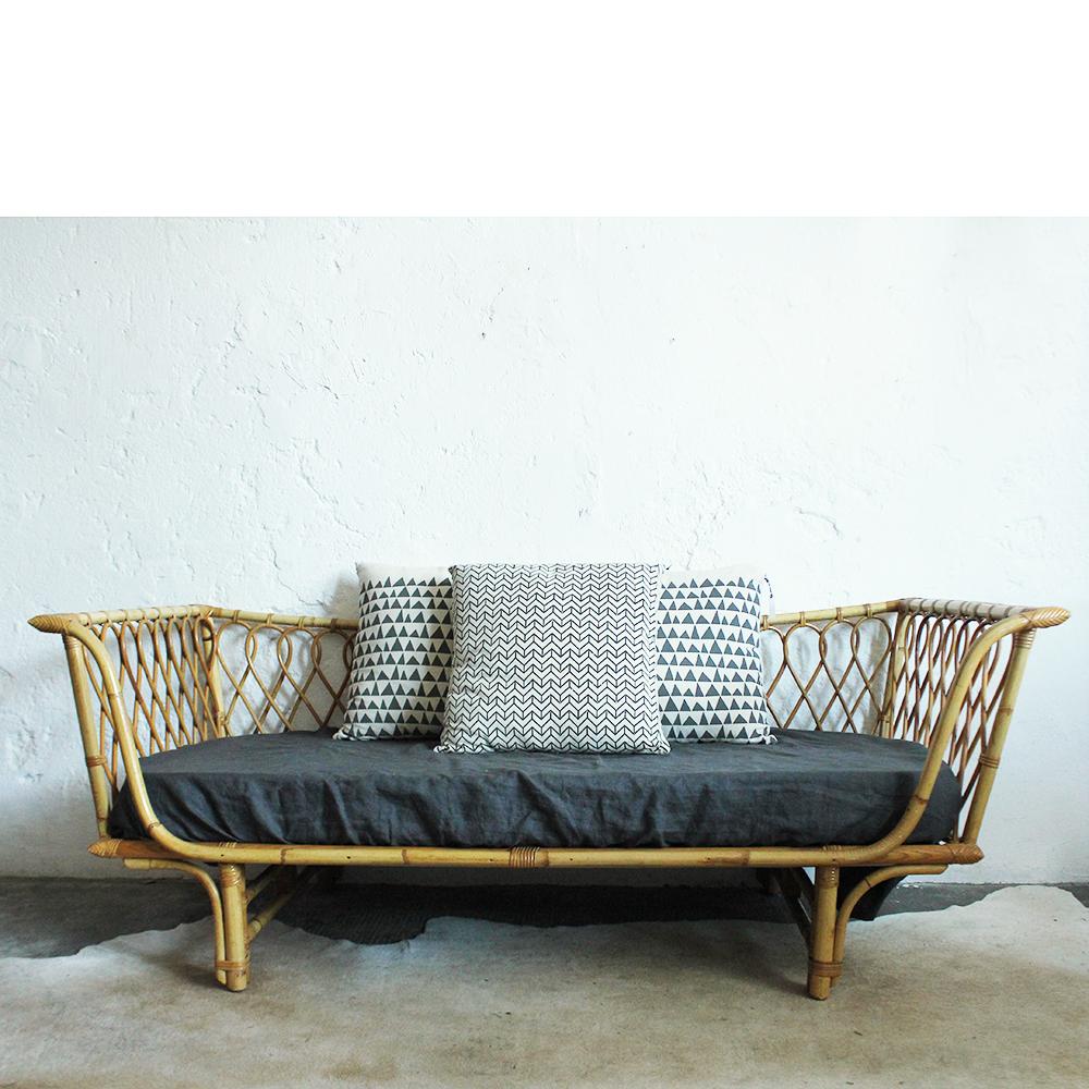 Lit En Rondin De Bois - lit daybed rotin intermediaire g562 g u2013 Atelier du petit parc