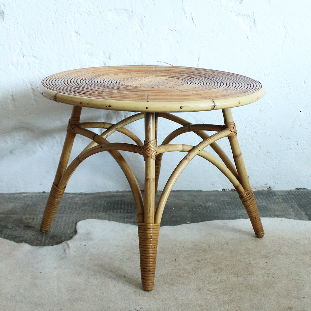 table basse rotin vintage atelier du petit parc. Black Bedroom Furniture Sets. Home Design Ideas