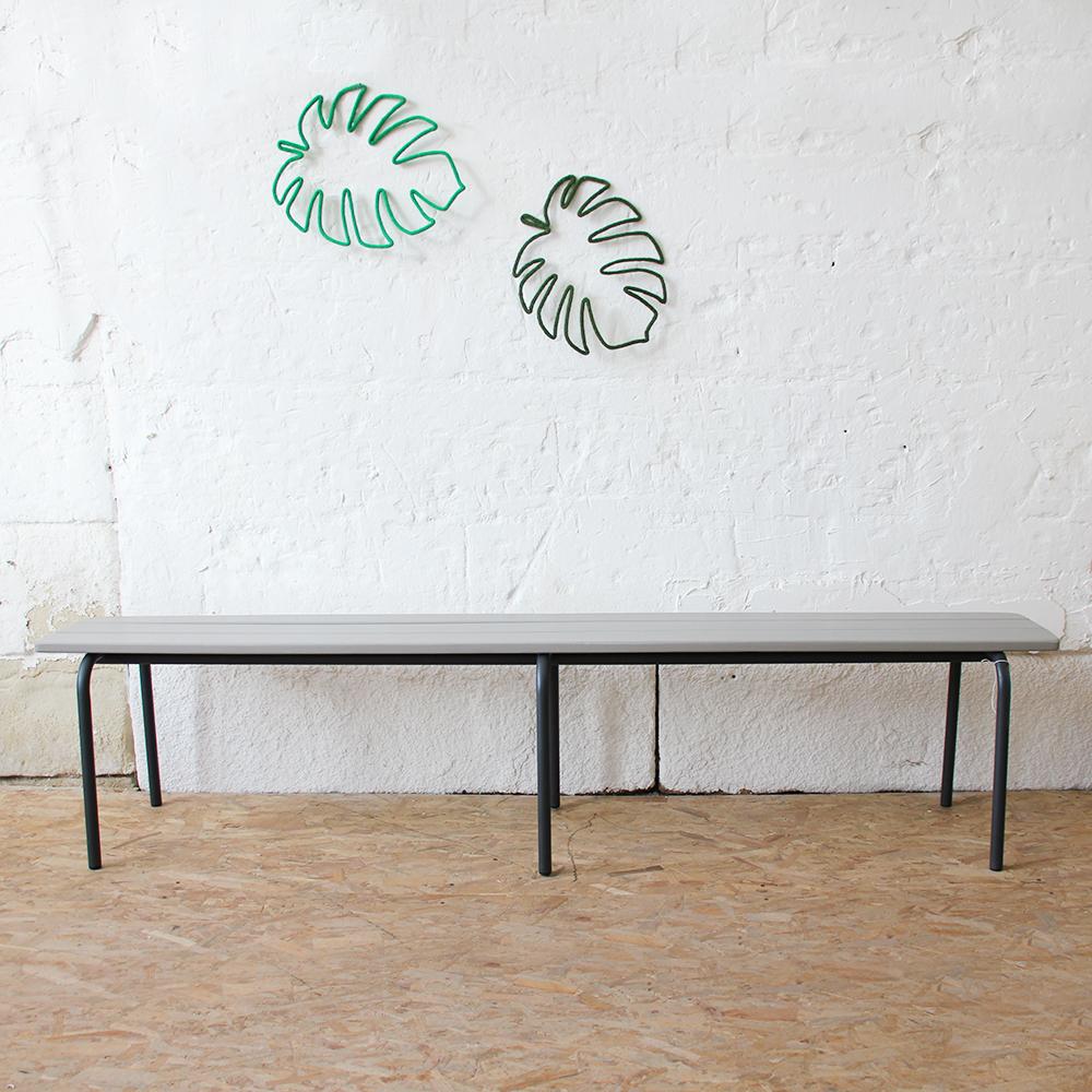 Banc Ecole Ancien Vintage Tubes Bois H257a Atelier Du Petit Parc