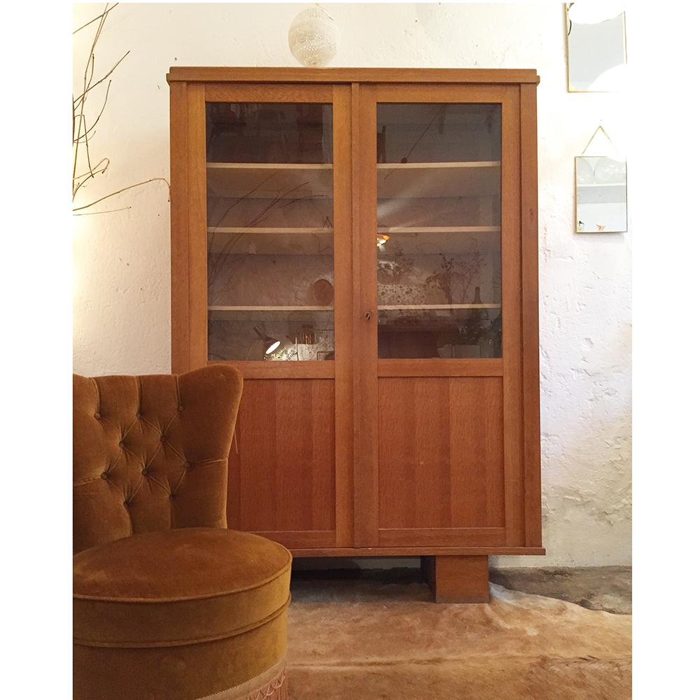 armoire biblioth que vintage atelier du petit parc. Black Bedroom Furniture Sets. Home Design Ideas
