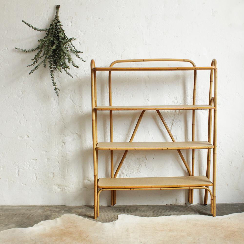 biblioth que rotin vintage atelier du petit parc. Black Bedroom Furniture Sets. Home Design Ideas