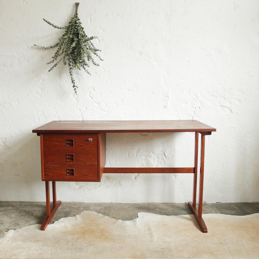 Bureau vintage moderniste ancien atelier du petit parc - Petit bureau vintage ...