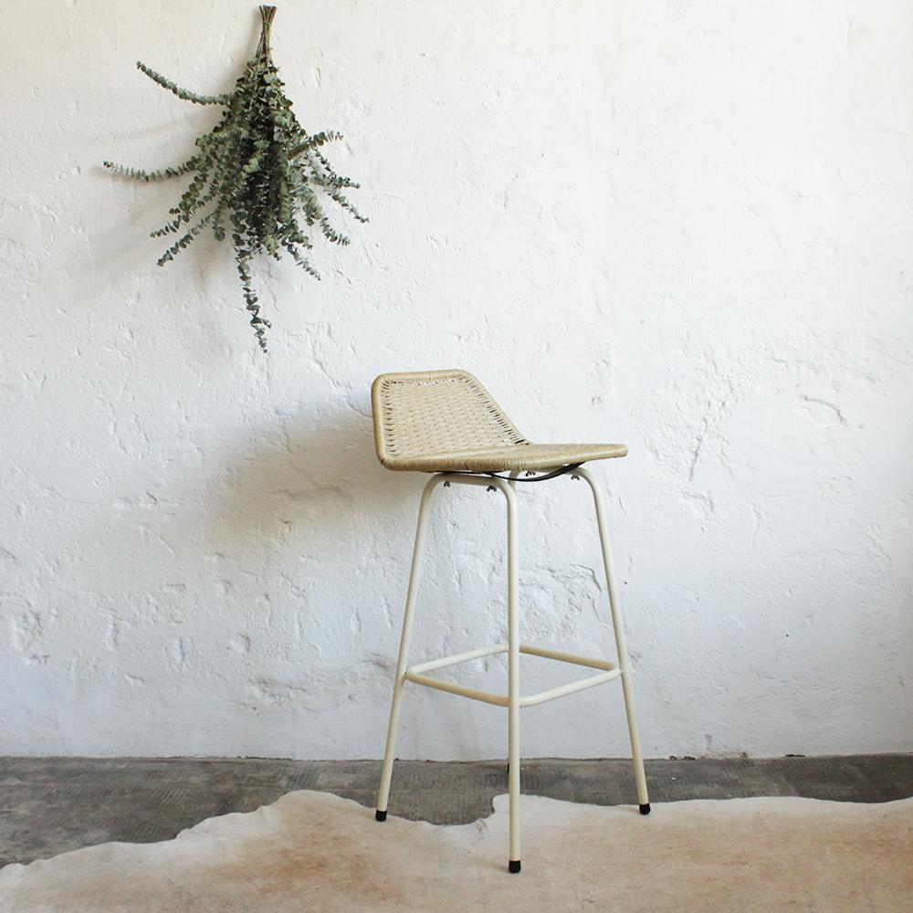 tabouret haut vintage scandinave atelier du petit parc. Black Bedroom Furniture Sets. Home Design Ideas