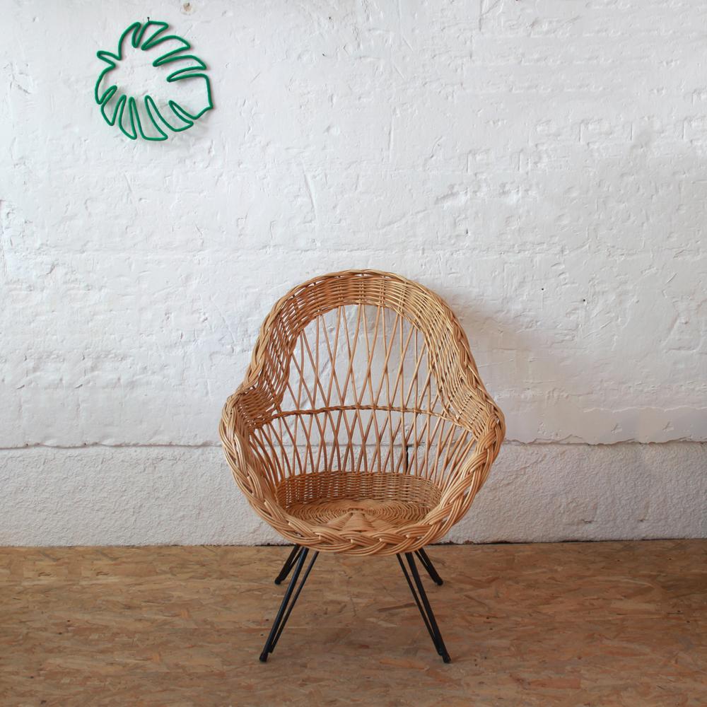 Fauteuil Osier Vintage Atelier Du Petit Parc - Fauteuil en osier