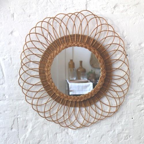 miroir-rotin-vintage-ancien-fleur-H542_a