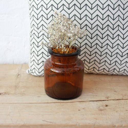 Pot-verre-ambre-pharmacie-vintage-G552_a