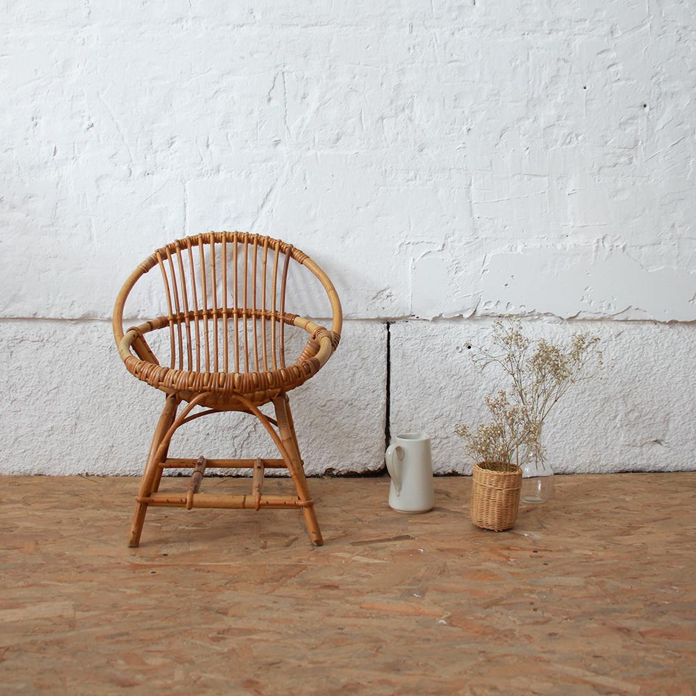 fauteuil rotin vintage enfant atelier du petit parc. Black Bedroom Furniture Sets. Home Design Ideas