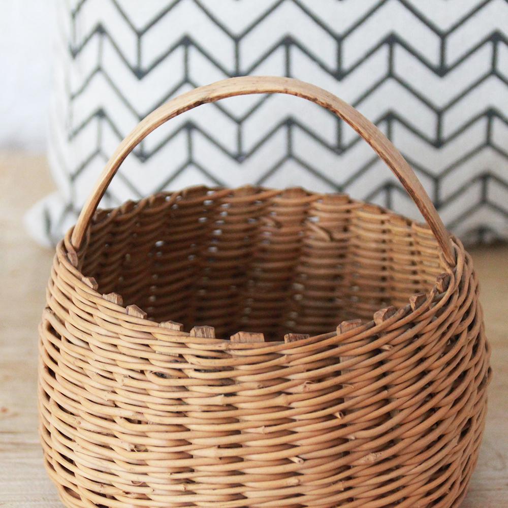 panier rotin vintage wabi sabi h689 b atelier du petit parc. Black Bedroom Furniture Sets. Home Design Ideas