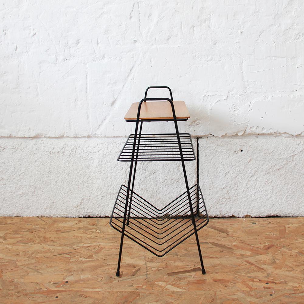 table appoint porte vinyles vintage h696 d atelier du petit parc. Black Bedroom Furniture Sets. Home Design Ideas