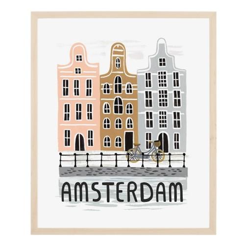 affiche-amsterdam-facade-riffle-bois