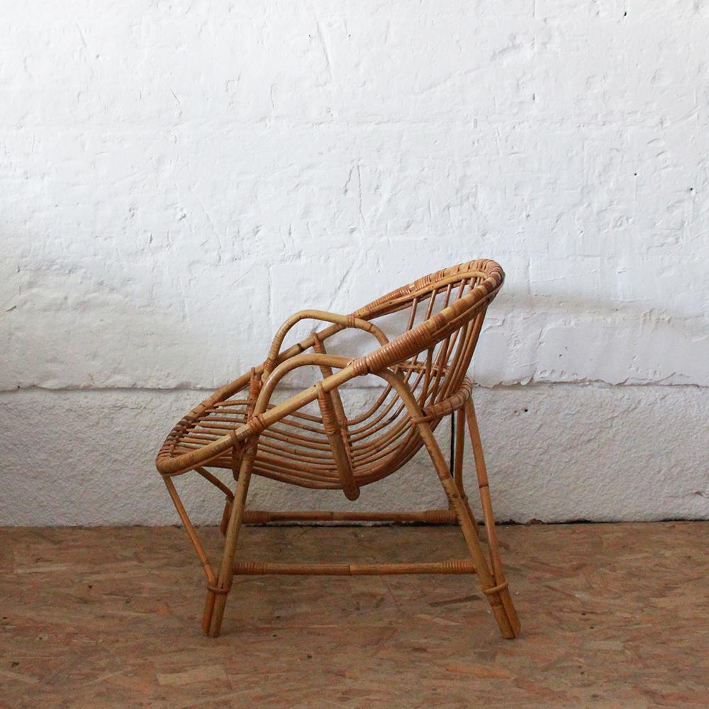 fauteuil rotin vintage baquet h723 c atelier du petit parc. Black Bedroom Furniture Sets. Home Design Ideas