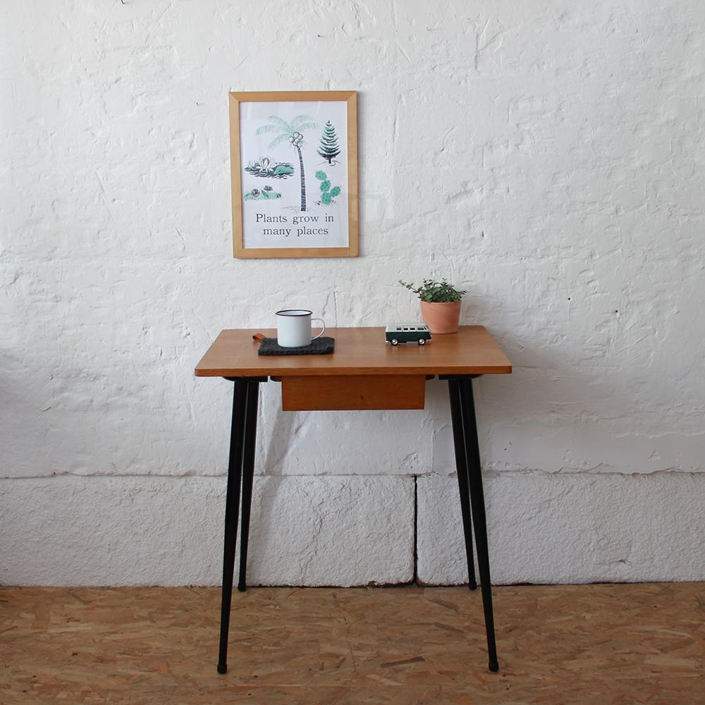 Mobilier vintage bureau d 39 cole atelier du petit parc for Table bureau noir