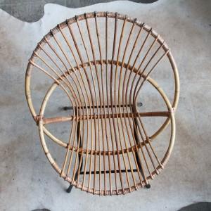 Fauteuil ancien nantes rotin vintage h909 d atelier du petit parc - Petit fauteuil ancien ...