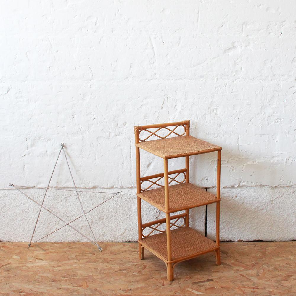 biblioth que vintage en rotin atelier du petit parc. Black Bedroom Furniture Sets. Home Design Ideas